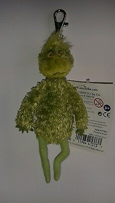 Dr.Seuss Grinch Clip ons/keyring brand new with tags