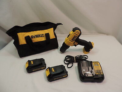 Dewalt 20V Max 1/2 Cordless Drill W/2 Batteries,charger, And Soft Case # Dcd771