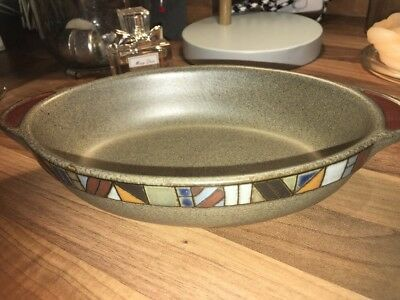 *DENBY* Small Marrakesh Oval Serving Dish/Pie Dish