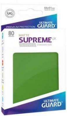 Ultimate Guard Standard Sleeves Supreme UX - Matte Green (10 Packs of 80) MINT
