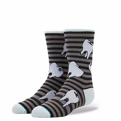 2017 NWT YOUTH BOYS STANCE TOOTH HURTY SOCKS $10 L (2-5.5) black light cushion