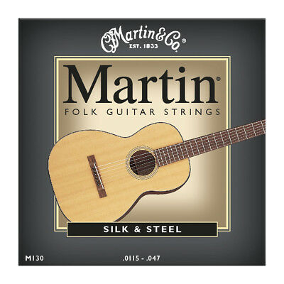 Brand New Martin M130 Silk & Steel Acoustic Guitar Strings .0115-.047