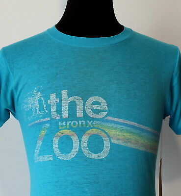 vintage 80s THE BRONX ZOO super thin soft FADED T SHIRT small