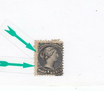 CANADA # 21c FINE-MINT UNUSED NO GUM 1/2ct LARGE QUEEN VARIETY SMALL SPUR CV $50