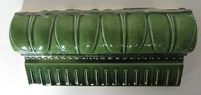 BORDER TILE England A.M.Ltd   C1900 Green Antique