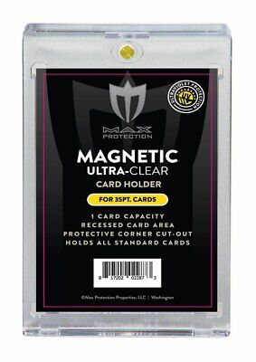 25 Max Pro Ultra One Premium Magnetic UV 35pt Black Label Touch Card Holders