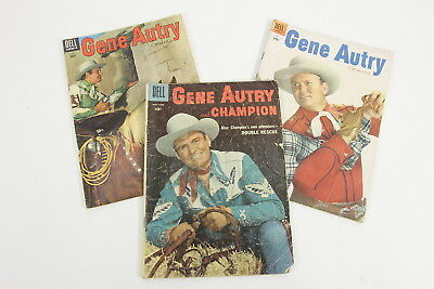 3 Gene Autry Comics Ungraded Singing Cowboy Issues #97, #100, #109 Golden Age