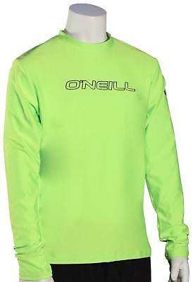 O'Neill Boy's Basic Skins LS Surf Shirt - Lime - New