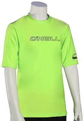 O'Neill Boy's Basic Skins SS Surf Shirt - Lime - New