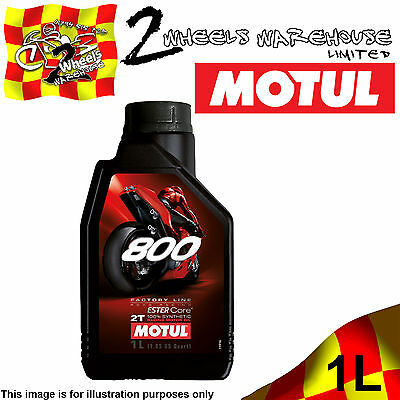 1x 1L MOTUL 800 ROAD RACING 2T FACTORY LINE ESTER CORE 100% FULLY SYNTHETIC OIL