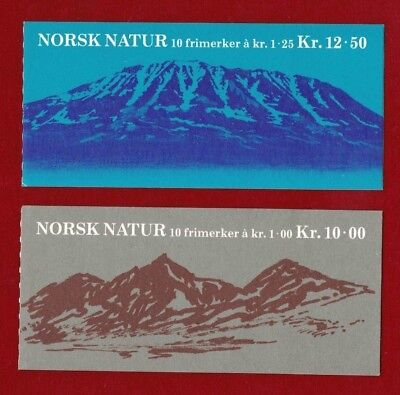 1978 Norway Scenery Booklets Set 2 SG 815/6 muh
