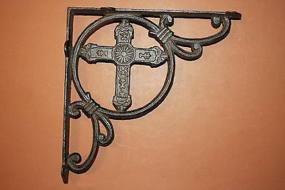 (2), Christian Wall Shelf Brackets , Vintage-look,  Church, Cast Iron, B-22