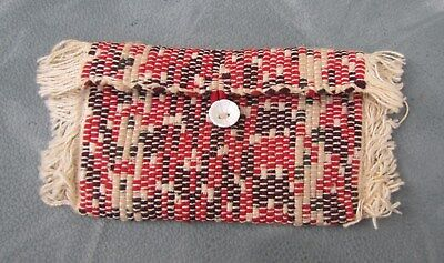 Vintage WOVEN PURSE ~ SMALL~ Antique & Colorful ~ Wallet