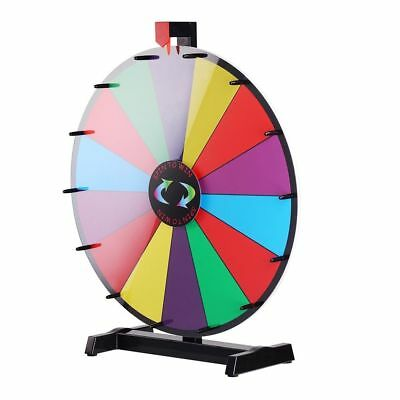 """18"""" Portable Table Top Dry Erase Spinning Game Show Prize Wheel of Fortune Party"""