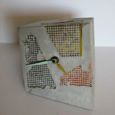 Rare Renaud Marchand Clock Sculpture Vintage Abstract Modernism Mesh Signed Pop