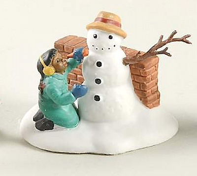 Dept 56 Christmas In The City - Playing In The Snow 55565 Girl W/ Snowman New