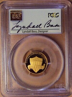 2012-S Pcgs Pr69Rd Dcam Lincoln Shield Cent! Lyndall Bass Signed! Rare!