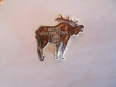 Vintage 1980 Moose International DAV Enamel Lapel Pin