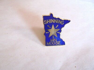 Vintage LOOM Minnesota Moose Shinning Star Enamel Lapel Pin
