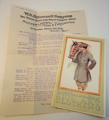 1910 Strouse & Brothers Baltimore Mens Clothing Catalog Worcester Ma Silvernail