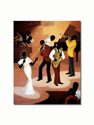 African American Black Jazz Works Night Club Wall Picture 8x10 Art Print