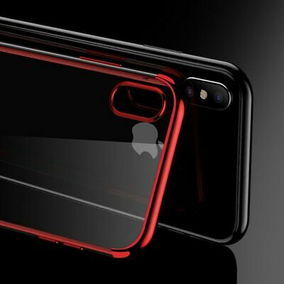 For iPhone X 10 Case Shockproof Plating Clear Slim Hybrid Bumper TPU Cover
