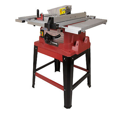"""Premium 240V 10"""" Table Saw with Leg Stand Sliding Extensions TCT Blade & Laser"""