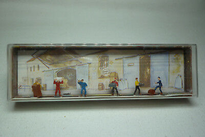 Vintage Merten Figuren Box - Spur N - Transportarbeiter - Box 2240 (1.fig-47)