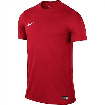 Nike Herren Fitness Freizeit Training Fussball T-Shirt PARK VI Dri-Fit Rot Neu