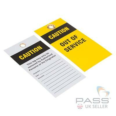Caution - Out of Service Must not be Used - Yellow / Black Pack of 10