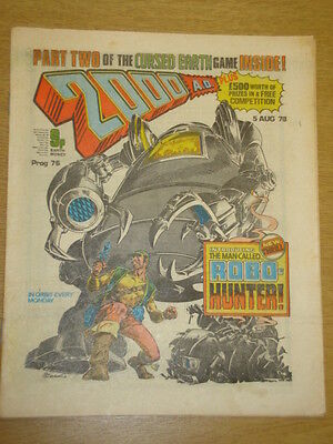 2000Ad #76 British Weekly Comic Judge Dredd *