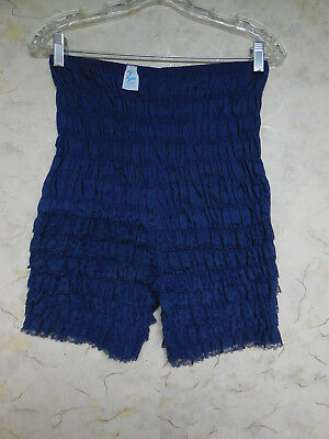 Frilly Blue Ruffle Lacy Pettipants Square Dance Bloomers, Malco Modes, Sz L