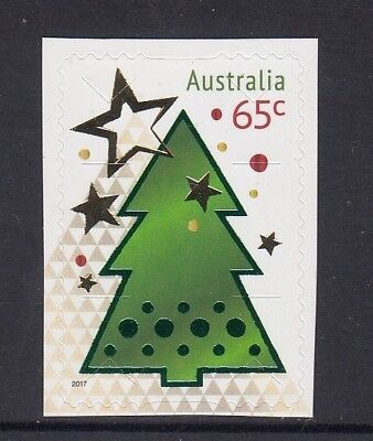 AUSTRALIA 2017 - CHRISTMAS 65c Embellish P&S from the Special Sheetlet TREE MNH