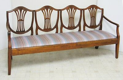EMPIRE BENCH -Wheat & Shield  - Large 4 Person - Super Solid Excellent Condition