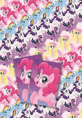 My Little Pony The Movie 2 Sheets Gift Wrap 2 Gift Tags Rainbow Dash Pinkie Pie