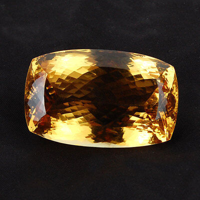 VVS 156 Cts Certified Untreated World Class Natural Citrine Jewel ~ Cushion Cut
