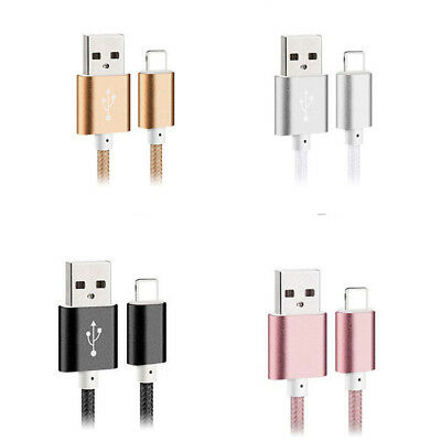 Strong Nylon Braided USB Fast Charger Data Sync Cable Lead for Apple iPhone iPad