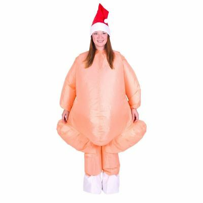 Adults Inflatable Christmas Turkey Dinner Fancy Dress Costume