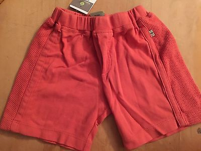 Babystyle boutique Adobe Red/Orange pull up shorts 18 24 months NEW NWT Boy