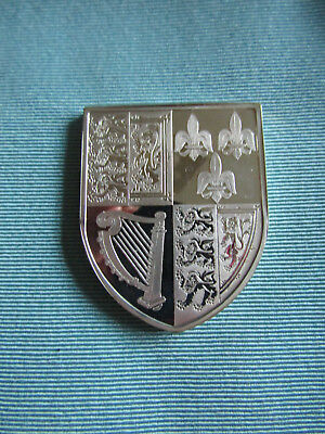 BRITISH ROYAL ARMS Large SILVER Proof Ingot   QUEEN ANNE
