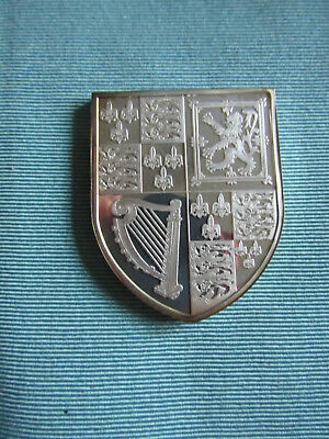 BRITISH ROYAL ARMS Large SILVER Proof Ingot  KING JAMES I , CHARLES to ANNE