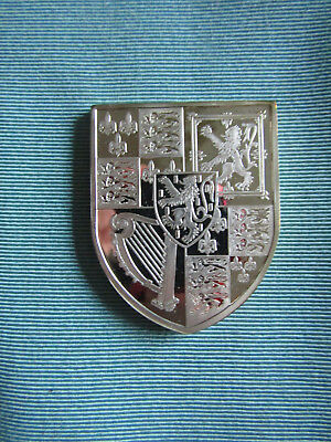 BRITISH ROYAL ARMS Large SILVER Proof Ingot  KING WILLIAM III & QUEEN MARY II