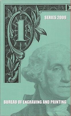 2009 $1 Bill 4 Note Uncut Sheet,C-Philadelphia,with BEP Card and Envelope,Nice!