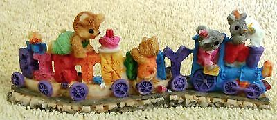 """Vintage Collectible--Bears Birthday Train--5"""" Long-Highly Detailed--Very Nice!"""