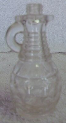 "Antique Glassware--Clear Glass Flask Bottle--3"" Tall--Very Nice--Great Patina!"