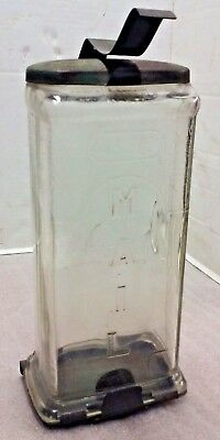 """Antique Vintage """"Visible"""" Mail Mailbox Pressed Glass  George Collins & Co. MFG."""