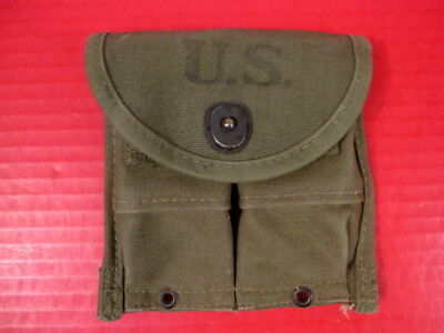 WWII M1 Carbine Magazine Belt Pouch - OD Green - Marked: Avery 1945 - Excellent
