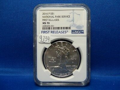 2016 National Park Service Commemorative Silver Dollar - NGC MS 70