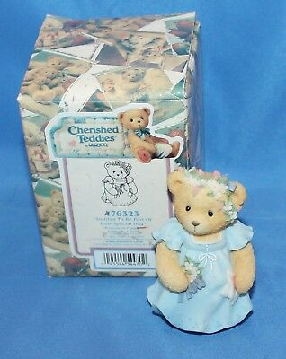 Cherished Teddies Bridesmaid So Glad To Be Part Figurine # 476323 1998 By Enesco
