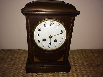 Victorian Chiming French Mantel Clock With Enamel Face By W.b.k. & Fils Paris